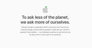 apple, informe ambiental, tan grande y jugando,