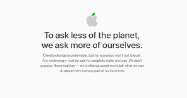 apple, informe ambiental, tan grande y jugando,