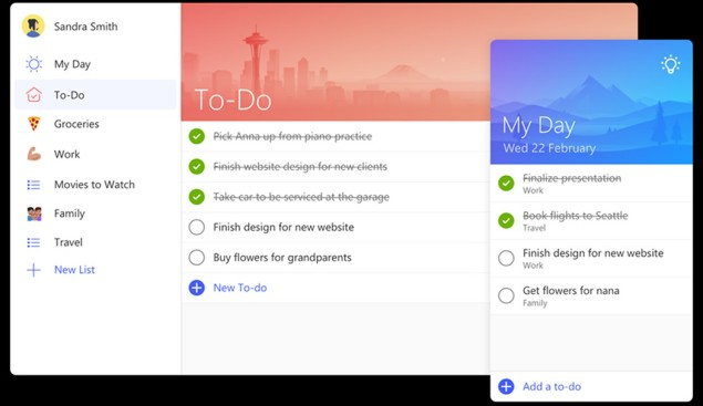 Wunderlist, tan grande y jugando, nmicrosoft, app. to do, my day app