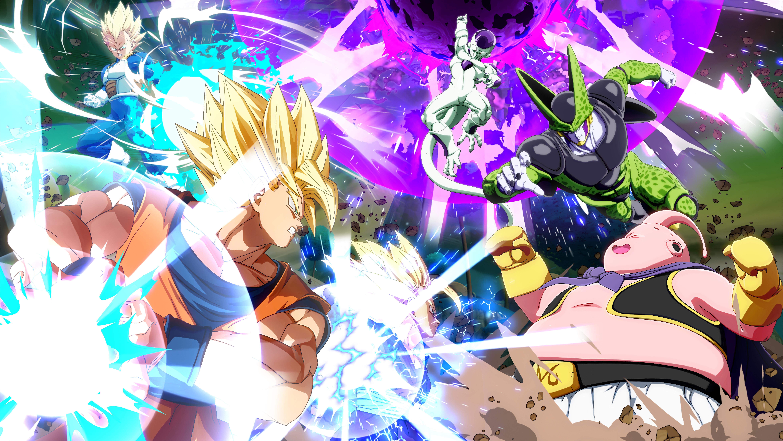 DRAGON BALL FighterZ, Bandai Namco, Tan Grande y Jugando, Gokum Freezzer, Vegeta, dragon ball,