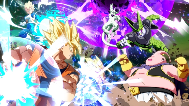 DRAGON BALL FighterZ, Bandai Namco, Tan Grande y Jugando, Gokum Freezzer, Vegeta, dragon ball,
