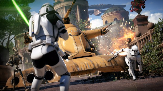 STAR WARS BATTLEFRONT II, STAR WARS, BATTLEFRONT II, tan grande y jugando
