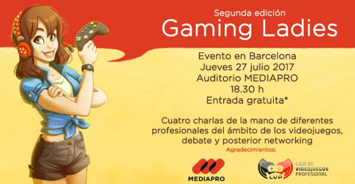 Gaming Ladies, Barcelona, España, videojuegos, conferencia, mujeres, tan grande y jugando, video games, geek girl, sexy gamer, GamingLadies
