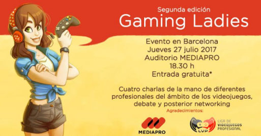 Gaming Ladies, Barcelona, España, videojuegos, conferencia, mujeres, tan grande y jugando, video games, geek girl, sexy gamer, GamingLadies