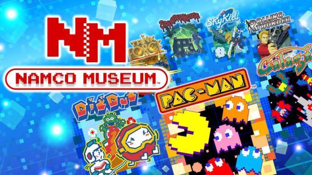 Namco museum, namcomuseum, bandainamco, bandai namco, tan grande y jugando, PAC-MAN, Dig Dug, Galaga, Galaga '88, The Tower of Druaga, Rolling Thunder, Rolling Thunder 2, Sky Kid, Splatterhouse, Tank Force, PAC-MAN VS