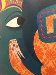 Maria Isabel Cely, BombaBombay, Bomba Bombay, Puerta Naranja, Diego Rojas, India, cultura Hindú, hindú, Exposición, arte, ilustración, Tan Grande y Jugando