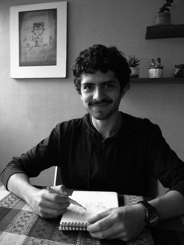 Santiago Guevara, Casa Tinta, casatinta, tan grande y jugando, FIG.08, fig 08, congreso de ilustración, artista colombino, artista latinoamericano